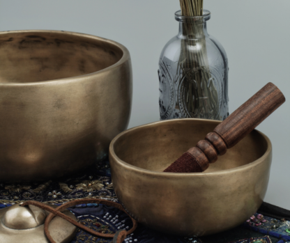 Sounds bowls and herbs